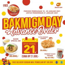 Promo Bakmi GM Day Advance Order ! Gratis Krispi Chips Spicy Mayo Sauce* & FREE Delivery*
