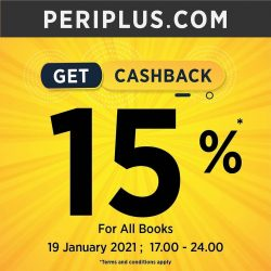 Periplus Promo HAPPY HOUR! Get 15% Cashback for All Books!