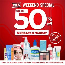 WATSONS Weekend Special (WES) – Discount up to 50%