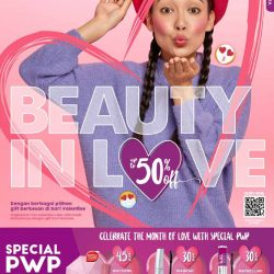 Katalog Belanja Watsons Terbaru – BEAUTY IN LOVE Discount Up to 50% on your favorite products