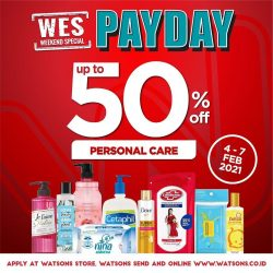 WATSONS Weekend Special (WES) – Discount up to 50% off