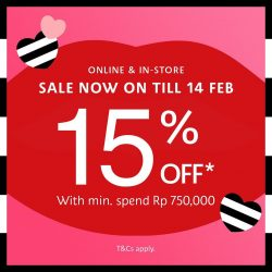 SEPHORA VALENTINE'S DAY SALE ! Treat yourself to 15% off*