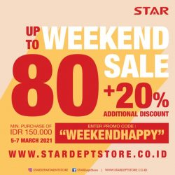 STAR DEPARTMENT STORE Weekend Sale! Discount up to 80% + additional discount 20%!